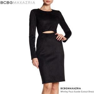 BCBGMaxAzria - 'Whitley' Faux Suede Cutout Dress